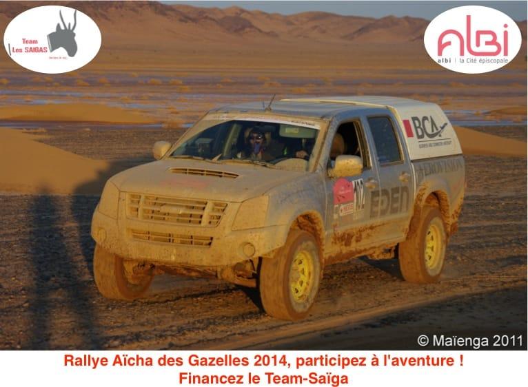 Participez à l'aventure du Rallye des Gazelles 2014