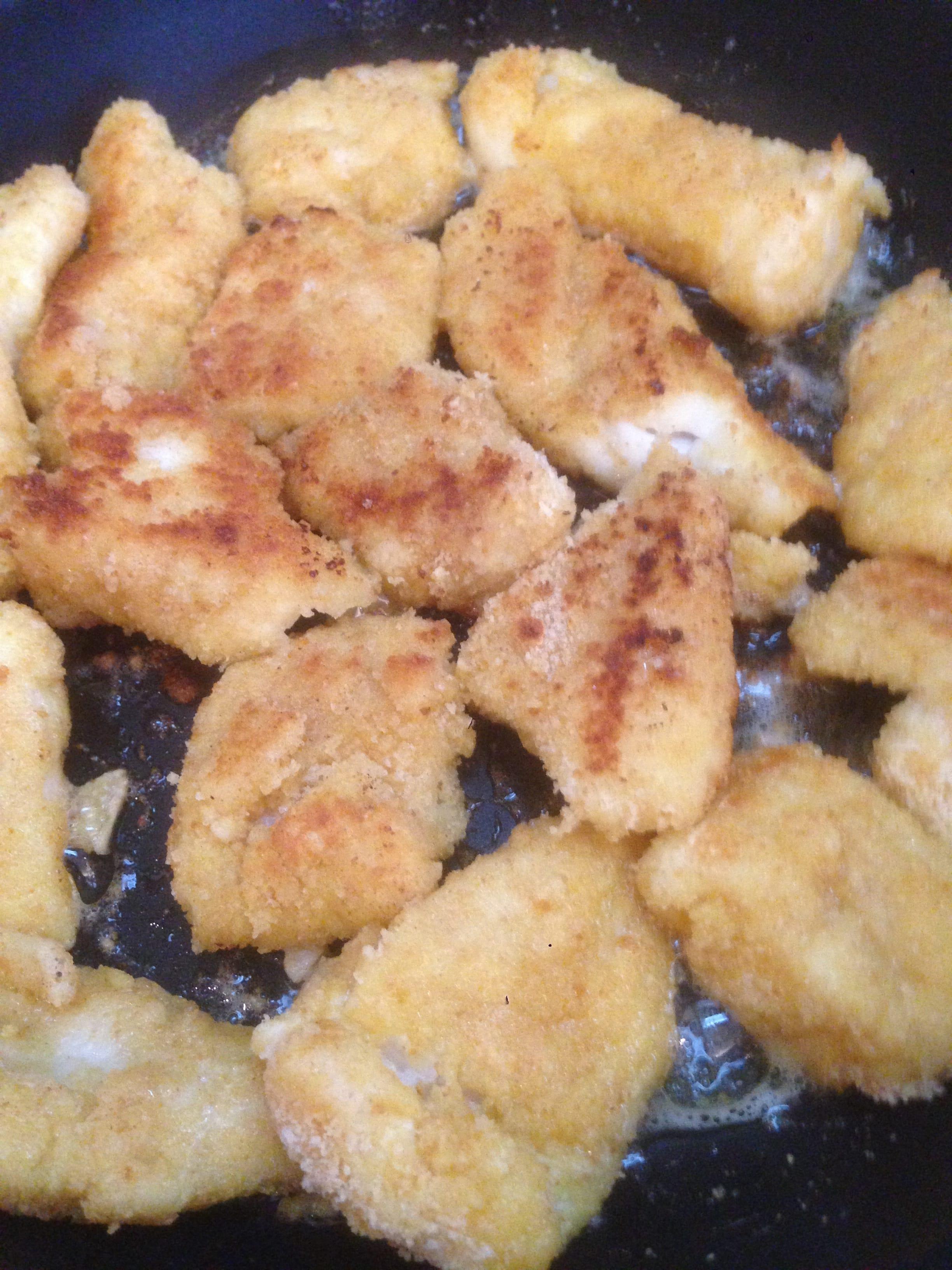 La cuisson du poisson pané