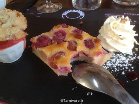 Clafoutis Cerise avec glace fraise !